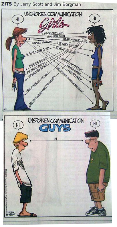 unspoken communication for girls and guys