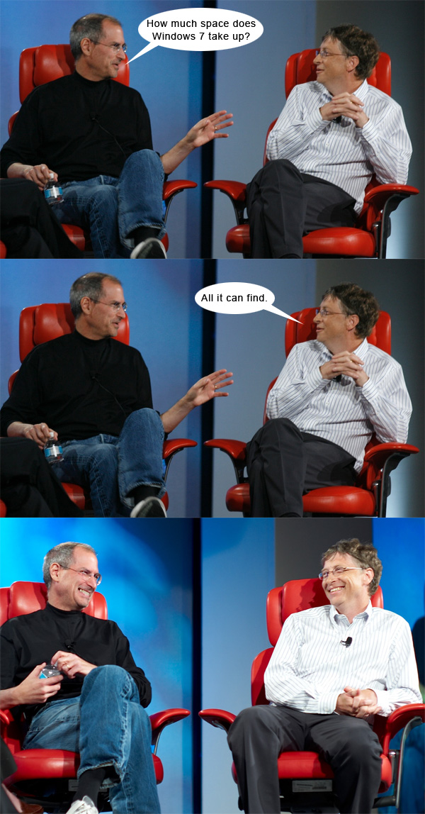 Steve Jobs and Bill Gates have fun together, best jokes about them | Web in