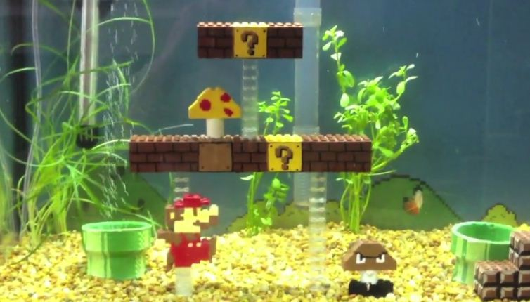 aquarium super mario web in a page. Black Bedroom Furniture Sets. Home Design Ideas