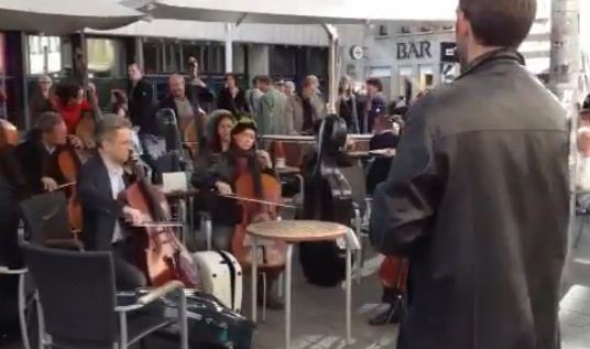 star wars orchestra flash mob