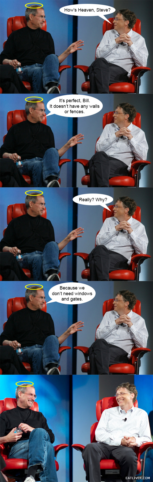 bill gates and steve jobs joke