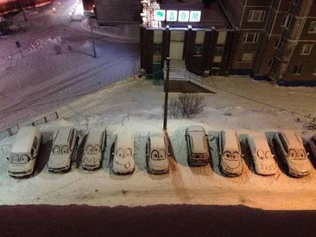 neige voiture snow car
