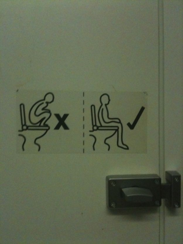 comment aller aux toilettes instructions